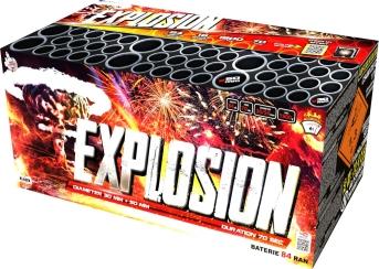 zostavený ohňostroj Explosion 84 rán / 30+50 mm